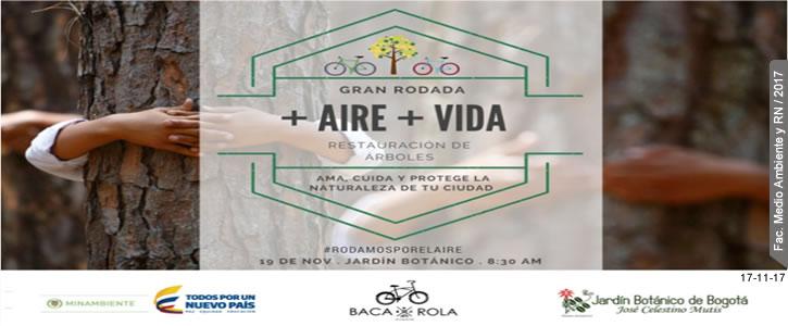 Ciclo Paseo +Aire +Vida, clic para inscribirse