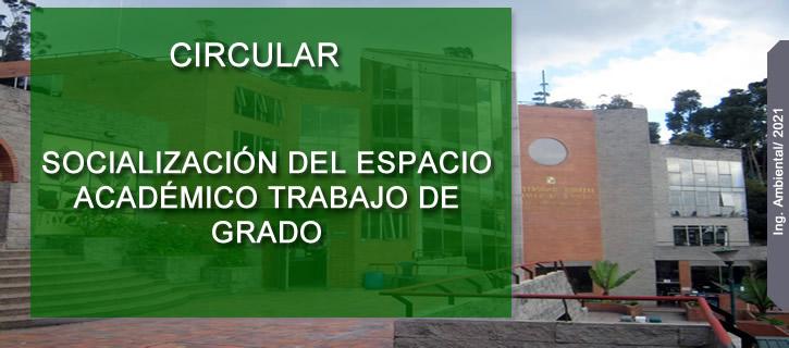 SOCIALIZACIÓN DEL ESPACIO ACADÉMICO TRABAJO DE GRADO