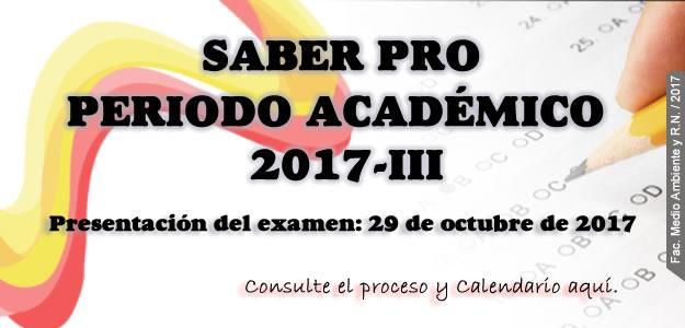 Examen Saber Pro Periodo 2017-III